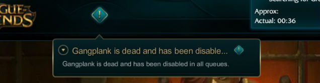 Gangplank Is Dead